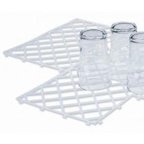 Ineinandergreifende Barmatte aus Gummi 30 x 20 cm, transparent