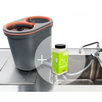 "ECO Sparpaket ""NU portable"": 1x Original Spülboy® NU portable, grau + NU Gläserspültabletten"