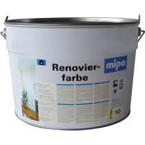 mipa Renovierfarbe (Wirtshausfarbe), für stark verschmutzte Innenwandflächen, weiß, 10 Liter
