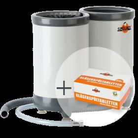 "ECO Sparpaket ""TWIN-GoT Portable"": 1x Original Spülboy® TWIN-GO T Portable + 1x Gläserspültabletten"