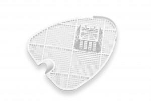 Urinalsieb / Schutzsieb mit Körbchen, klein 23,5 cm, (4 Stück)